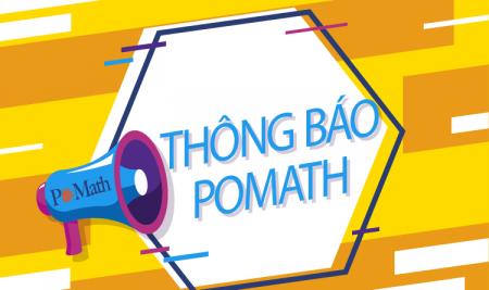 Thông báo lịch nghỉ học tạm thời và dạy học trực tuyến tại POMath